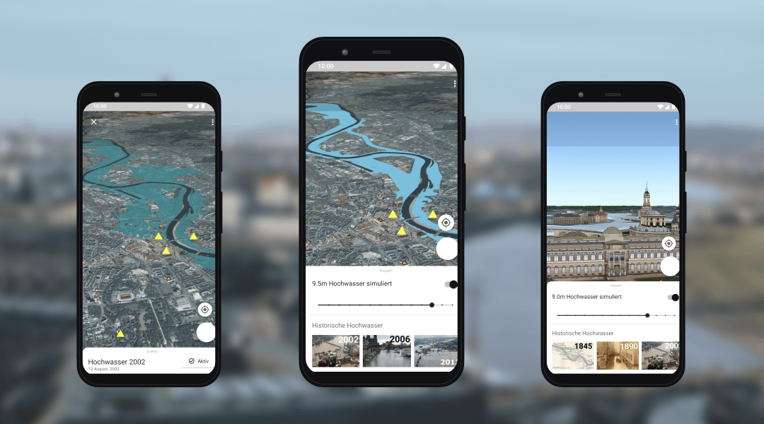 opwoco entwickelt Prototypen für die AR-Hochwasser-App der Stadt Dresden