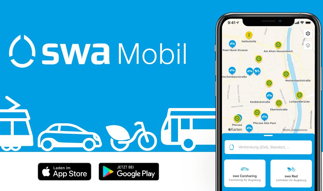 swa Mobil – Die neue Mobilitäts-App der Stadtwerke Augsburg