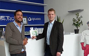 Henning Höne besucht opwoco GmbH im Industriepark Nord.Westfalen