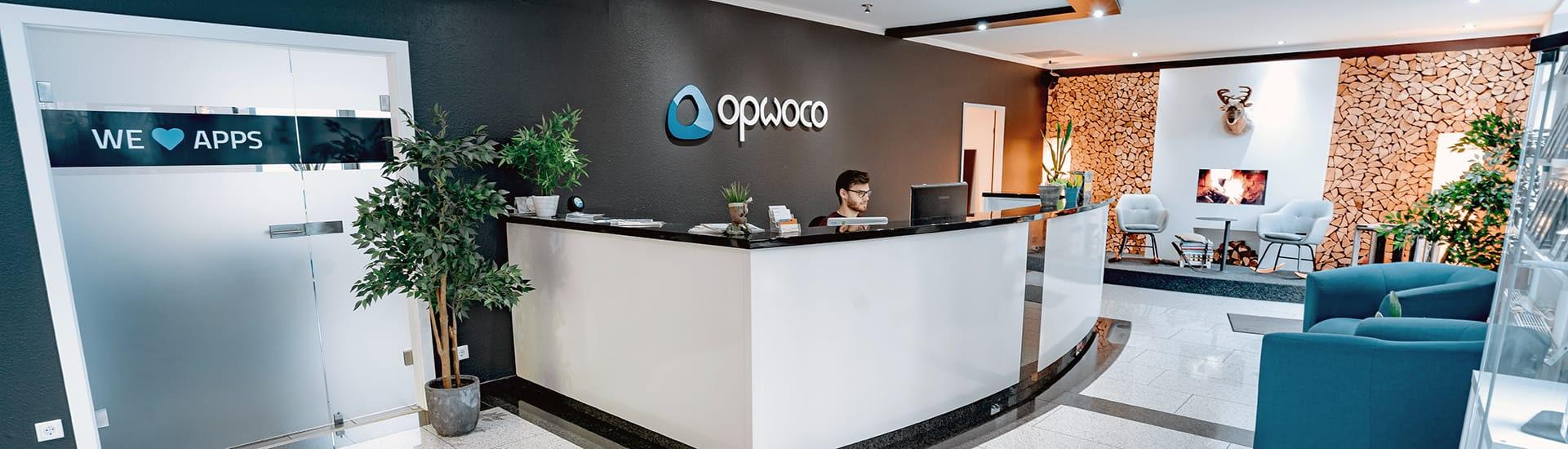 Empfangsbereich bei der opwoco GmbH
