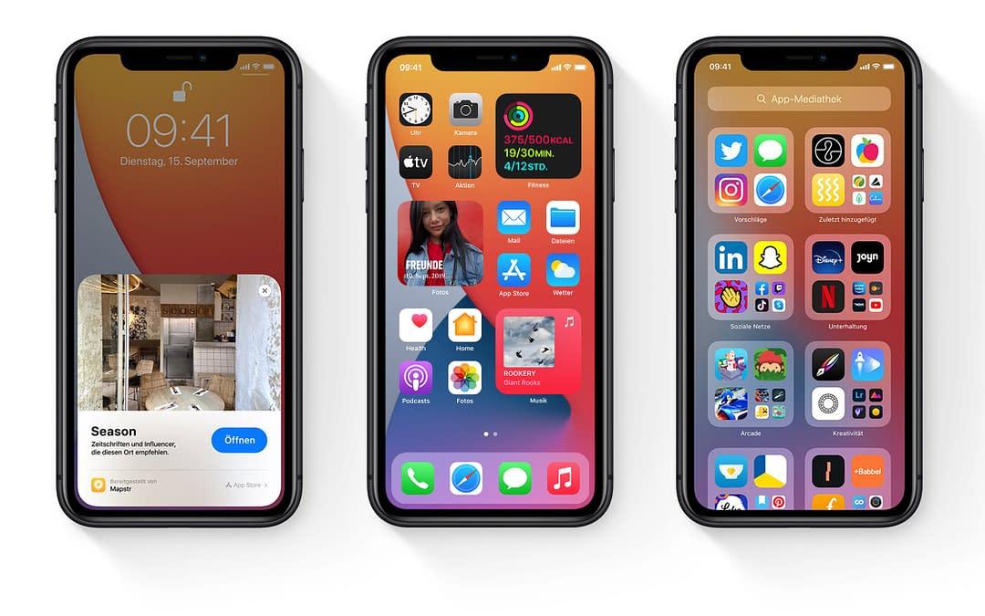 Neues Betriebssystem iOS 14 von Apple vorgestellt